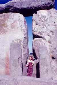 Claudia at Stonehenge, 1977